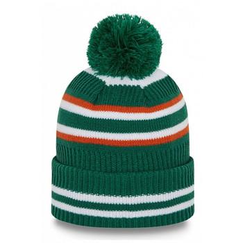 NEW ERA ireland football sport knit bobble hat [green]