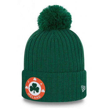 NEW ERA ireland football waffle heritage knit bobble hat [green]