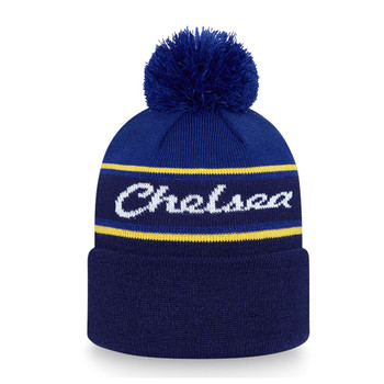 NEW ERA chelsea football wordmark bobble hat [blue]