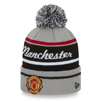 NEW ERA manchester united football wordmark bobble hat [grey]