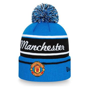 NEW ERA manchester united football wordmark bobble hat [blue]