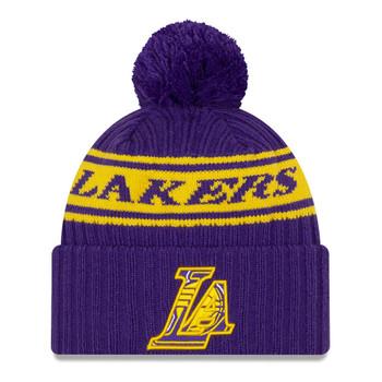 NEW ERA basketball LA lakers NBA draft knit bobble hat [purple]