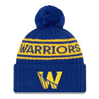 NEW ERA basketball golden state warriors NBA draft knit bobble hat [royal]