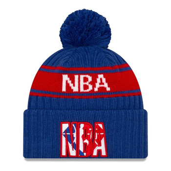 NEW ERA basketball NBA draft knit bobble hat [royal]