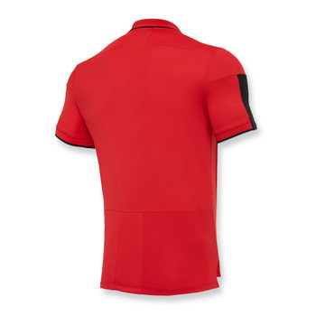 MACRON wales rugby (WRU) players polo shirt [red]