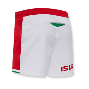 MACRON wales rugby (WRU) home replica shorts [white/red]