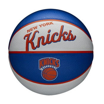 WILSON new york knicks NBA retro mini basketball [white/blue/orange]