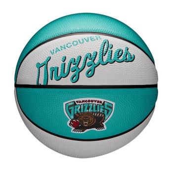 WILSON Memphis grizzlies NBA retro mini basketball [turquoise/white]