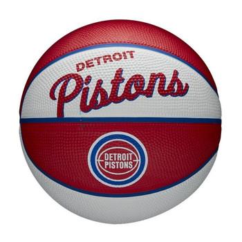 WILSON detroit pistons NBA retro mini basketball [red/white]