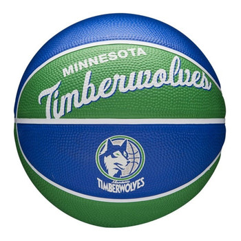 WILSON minnesota timberwolves NBA retro mini basketball [blue/green]