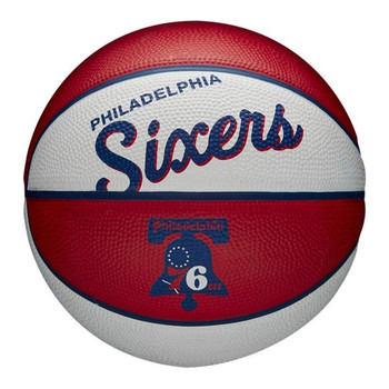 WILSON philadelphia 76ers NBA retro mini basketball [white/red]
