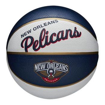 WILSON new orleans pelicans NBA retro mini basketball [white/navy]
