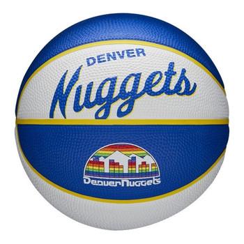 WILSON denver nuggets NBA retro mini basketball [white/blue]