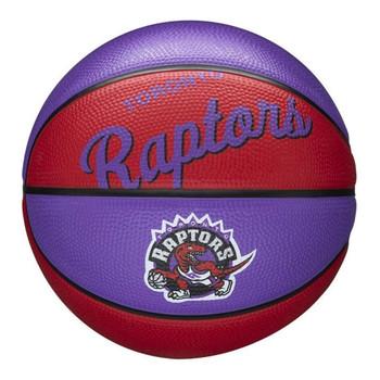 WILSON toronto raptors NBA retro mini basketball [purple/red]