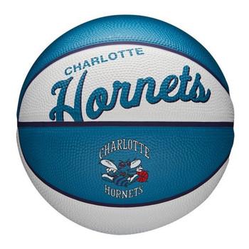 WILSON charlotte hornets NBA retro mini basketball [white/aqua]