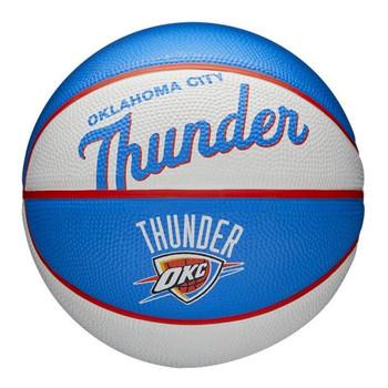 WILSON oklahoma city thunder NBA retro mini basketball [white/sky blue]