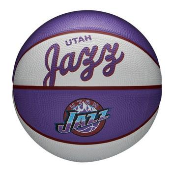 WILSON utah jazz NBA retro mini basketball [white/purple]