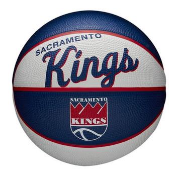 WILSON sacramento kings NBA retro mini basketball [white/navy]