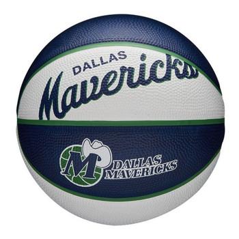 WILSON dallas maverics NBA retro mini basketball [white/navy/green]