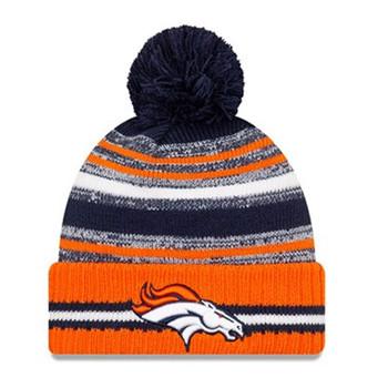 NEW ERA Denver Broncos NFL sideline sport knit bobble hat [orange/navy]
