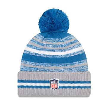 NEW ERA Detroit Lions NFL sideline sport knit bobble hat [blue/grey]