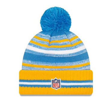 NEW ERA LA Chargers NFL sideline sport knit bobble hat [blue/yellow]