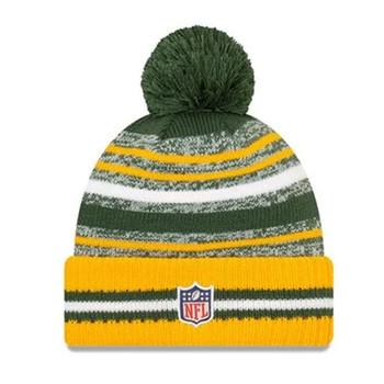 NEW ERA Green Bay Packers NFL sideline sport knit bobble hat [green/yellow]