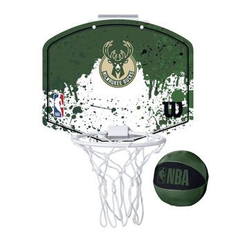 WILSON milwaukee bucks NBA mini team hoop set [green/white]