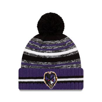 NEW ERA Baltimore Ravens NFL sideline sport knit bobble hat [blue/red]