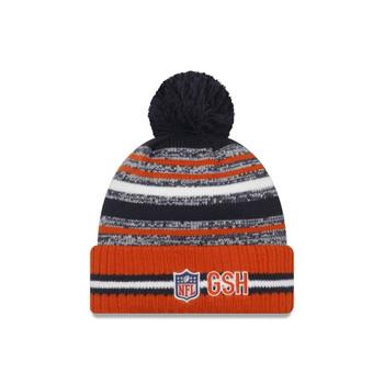 NEW ERA Chicago Bears  NFL sideline sport knit bobble hat [orange/navy]