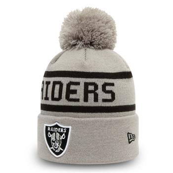 NEW ERA Las Vegas Raiders Cuff Bobble Beanie hat [grey]