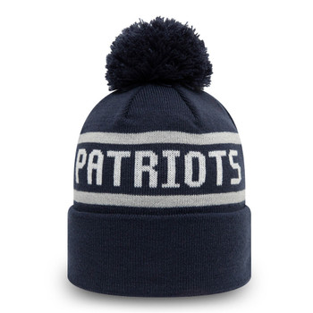 NEW ERA New England Patriots Cuff Bobble Beanie hat [navy]