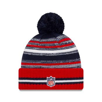 NEW ERA New England Patriots NFL sideline sport knit bobble hat [red/navy]