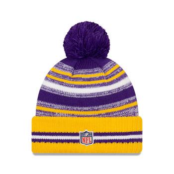 NEW ERA Minnesota Vikings NFL sideline sport knit bobble hat [purple/yellow]