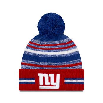 NEW ERA New York Giants  NFL sideline sport knit bobble hat [purple/yellow]