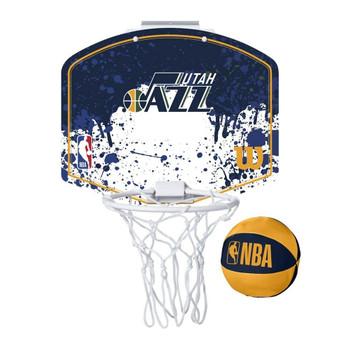 WILSON utah jazz NBA mini team hoop set [blue/white]