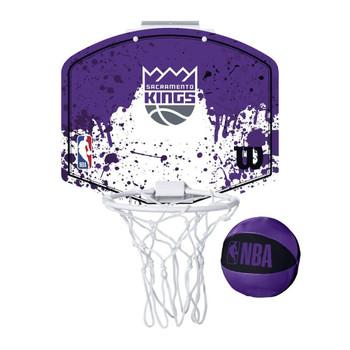 WILSON sacramento kings NBA mini team hoop set [purple/white]