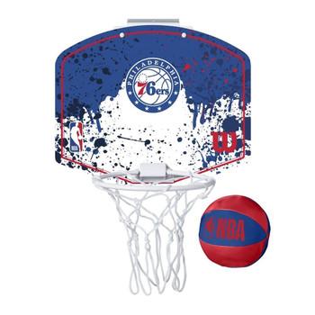 WILSON philadelphia 76ers NBA mini team hoop set [red/white/blue]
