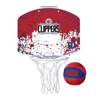 WILSON LA clippers NBA mini team hoop set [red/white]