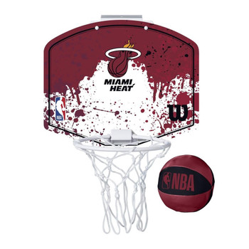 WILSON miami heat NBA mini team hoop set [maroon/white]