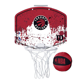 WILSON toronto raptors NBA mini team hoop set [red/white]