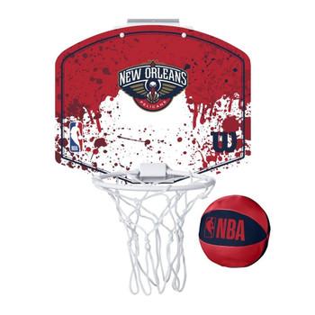 WILSON new orleans pelicans NBA mini team hoop set [red/white]