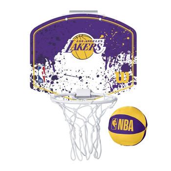 WILSON los angeles lakers NBA mini team hoop set [purple/white/yellow]