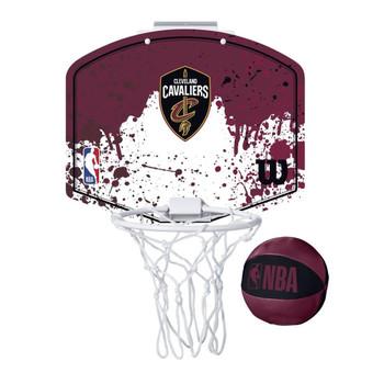 WILSON cleveland cavaliers NBA mini team hoop set [burgandy red/white]
