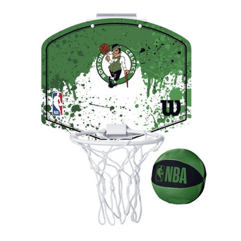 WILSON boston celtics NBA mini team hoop set [green/white]