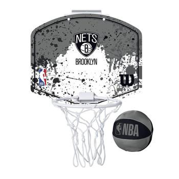 WILSON brooklyn nets NBA mini team hoop set [grey/white]