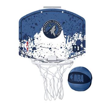 WILSON minnesota timberwolves NBA mini team hoop set [blue/white]