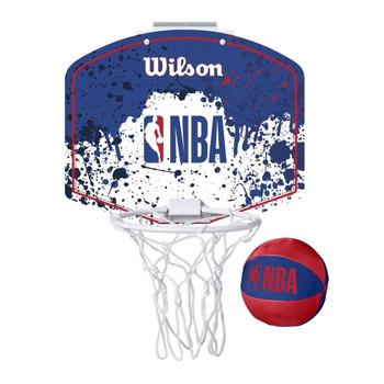 WILSON generic logo NBA mini team hoop set [blue/white/red]