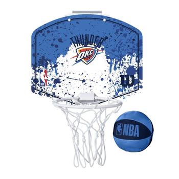 WILSON oklahoma city thunder NBA mini team hoop set [blue/white]