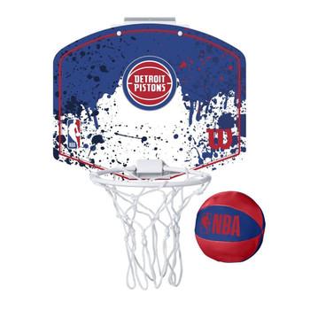 WILSON detroit pistons NBA mini team hoop set [blue/white]
